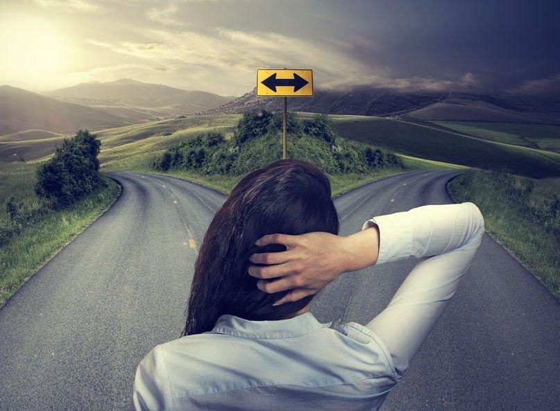 Women deciding which path take