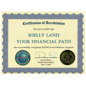 Your Financial Path certificate